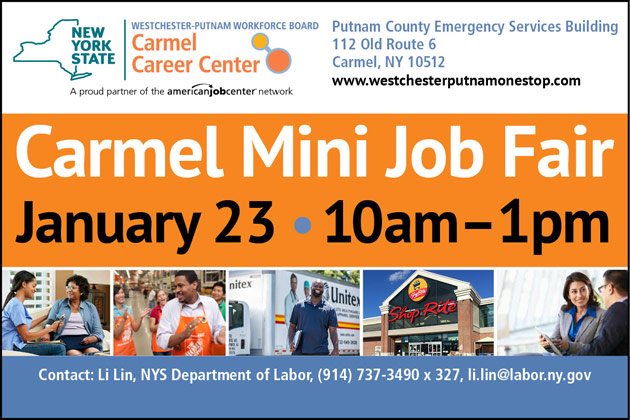 image of pictures and text for Carmel Job Fair