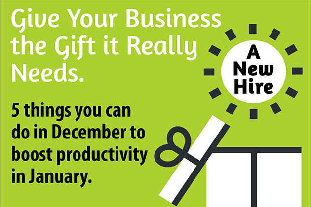 Five things to do in December to boos productivity