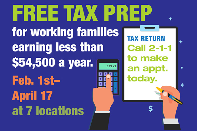 VITA Free Tax Preparation for those who qualify for the Earned Income Tax Credit